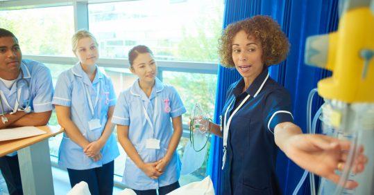 Student nurses in training.