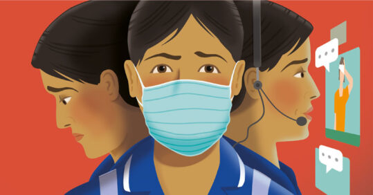 Nurses wearing masks