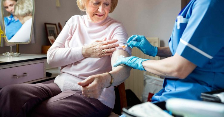 Flu vaccinations among over-65s up