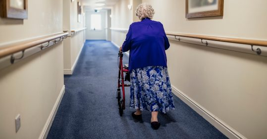 Woman in care home.