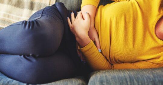 Woman with endometriosis